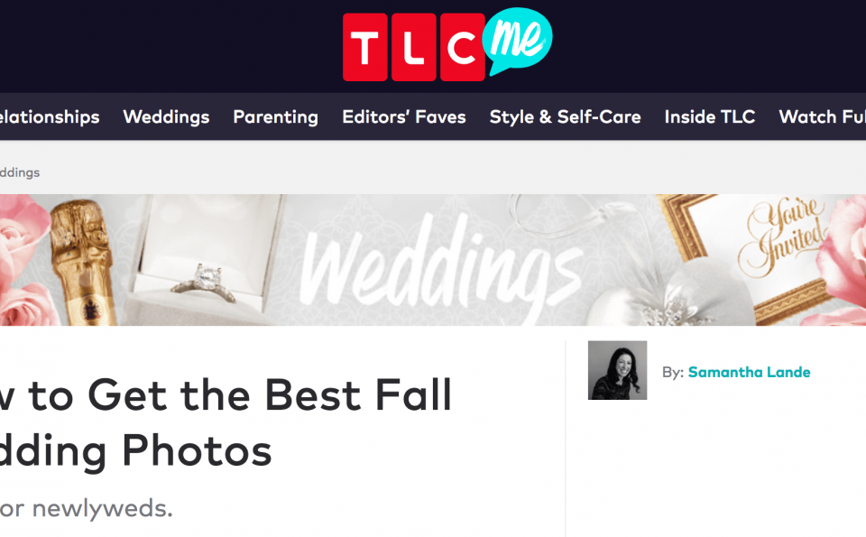 Recent Feature: TLC Tips For Fall Wedding Photos