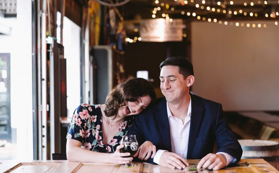 Fort Worth HopFusion & Leaves Book and Tea Shop Engagement Session